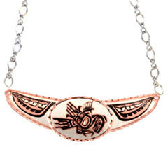 Native Thunderbird Copper Diamond Cut Choker