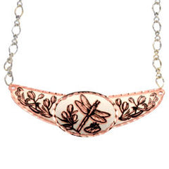 Dragonfly Copper Diamond Cut Choker