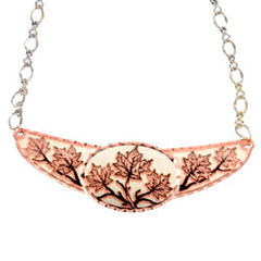Maple Leaf Copper Diamond Cut Choker