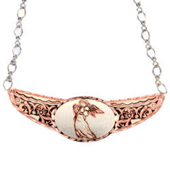 Angel Copper Diamond Cut Choker - Oscardo