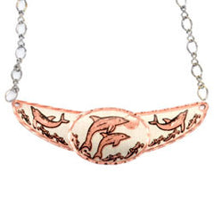 Dolphin Copper Diamond Cut Choker