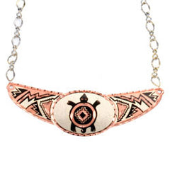 Native Turtle Copper Diamond Cut Choker