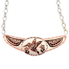 Native Hummingbird Copper Diamond Cut Choker
