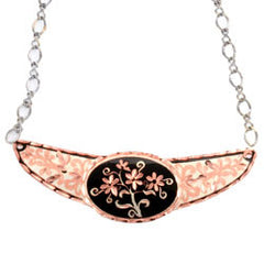 Floral Design Copper Diamond Cut Choker
