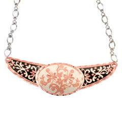 Floral Copper Diamond Cut Choker