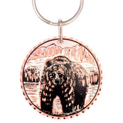 Bear  Round Key Chain