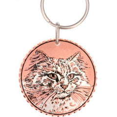 Cat  Round Key Chain