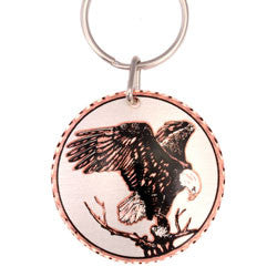 Eagle  Round Key Chain
