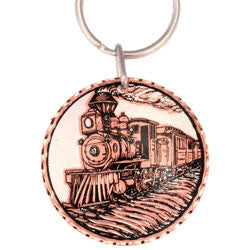 Train  Round Key Chain