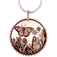 Butterfly  Round Key Chain