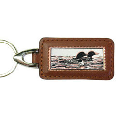 Loon Rectangular Leather Key chain
