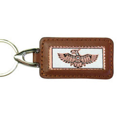Native Thunderbird Rectangular Leather Key chain