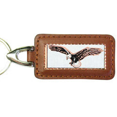 Eagle Rectangular Leather Key chain