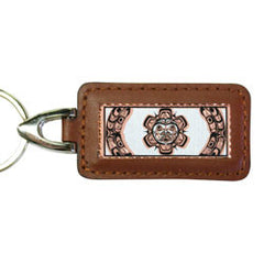 Native Sun Rectangular Leather Key chain