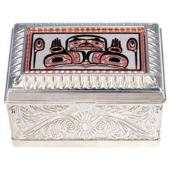 Native Bear Keepsake Metal Box