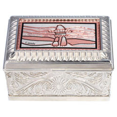 Native Inukshuk Keepsake Metal Box