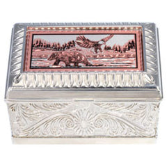 Bear and Eagle Keepsake Metal Box