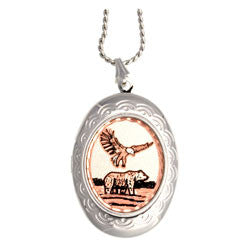 Eagle & Bear Locket