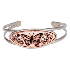 Butterfly Long Oval Wire Bracelet
