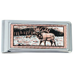 Elk Money Clip Rectangular