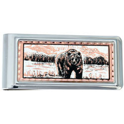 Bear Money Clip Rectangular