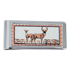 Deer Money Clip Rectangular