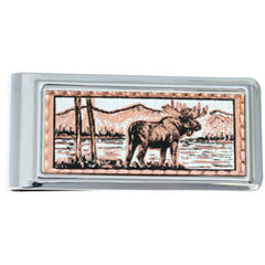 Moose Money Clip Rectangular