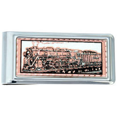 Train Money Clip Rectangular