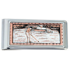 Golfer Money Clip Rectangular