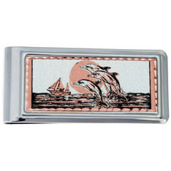 Dolphin Money Clip Rectangular
