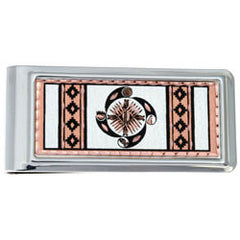 Native Wheel of Life Money Clip Rectangular