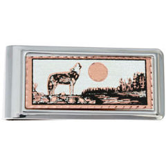 Wolf Money Clip Rectangular