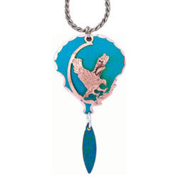 Eagle Blue Patina Necklace