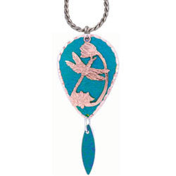 Dragonfly Blue Patina Necklace