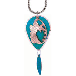 Angel Blue Patina Necklace - Oscardo