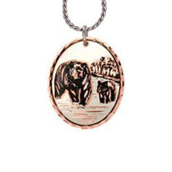 Bear Copper Necklace