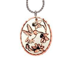 Hummingbird Copper Necklace