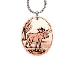 Moose Copper Necklace