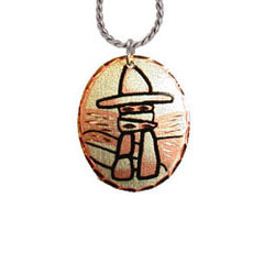 Inukshuk Copper Necklace