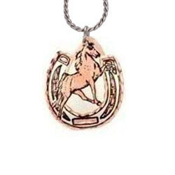 Horse & Horseshoe Copper Necklace