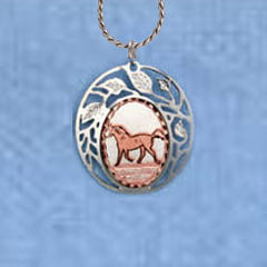 Horse Clouds Necklace