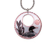 Loon Round Cut-out Necklace