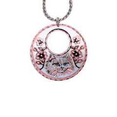 Cat Round Cut-out Necklace