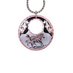 Horse Round Cut-out Necklace