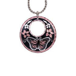 Butterfly Round Cut-out Necklace