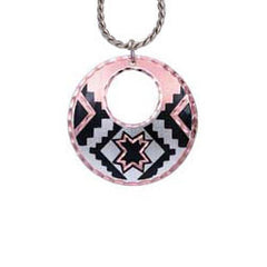 Native Design Round Cut-out Necklace