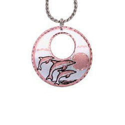 Dolphin Round Cut-out Necklace
