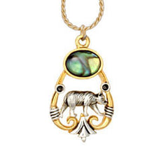 Bear Ocean Dance Necklace