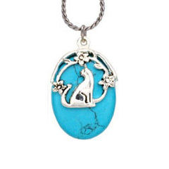 Cat Turquoise Reflections Necklace