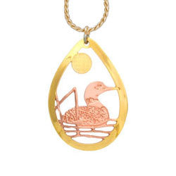 Loon Cut-out Necklace